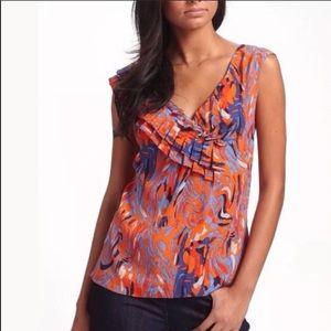 Leifsdottir silk Miro sleeveless abstract top